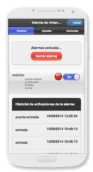 """Cómo activar y configurar la """"Alarma de Vivienda""""   DomoDOX"""